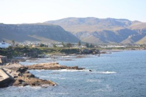 Cliff tops for whale watching, Hermanus