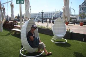 New chairs for those who want to enjoy a cocktail and watch the harbour activities
