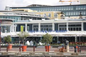 New venue for the Cape Town Fishmarket, clocktower, Waterfront