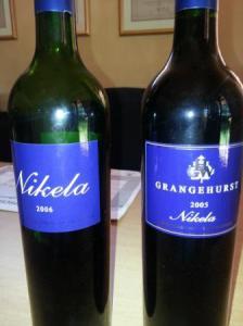 Nikela, Grangehurst vineyard