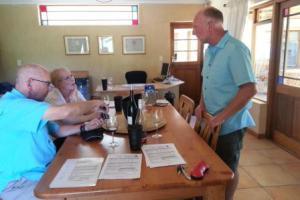 Rick & Betsy Huber (USA), wine tasting with Jeremy Walker at Grangehurst vineyard