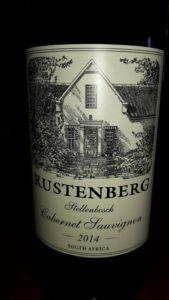 Rustenberg wine label